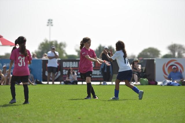partita di calcio femminile